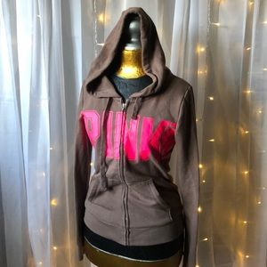 CUTE! Victoria's Secret PINK zip hoody Sz XS